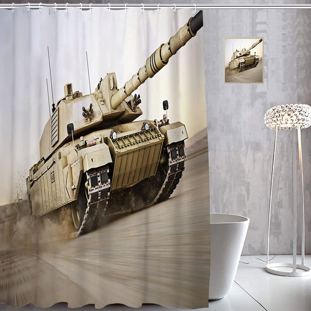War Classic Decor Fabric Shower Curtains Military Speedy wi Very popular Tank Moving