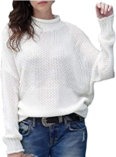 Women's Casual Classic Solid Color Long Sleeve Warm Turtleneck Knitted Pullover Sweaters Top
