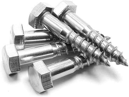 5pcs Stainless Steel M6 Hexagon Head Self Tapping Screw Fastener Wood Screws