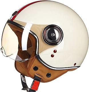 Off-Roady Cascos de Moto Vintage Jet Ruby Casco de Protección Gears 3/4