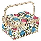 Kit da Cucito Cestino, Cestini Domestici, Ago da Cucito Storage Box Sewing Supplies Organizer per Accessori da Cucito, Rosa, Arancione, Verde Opzionale Green