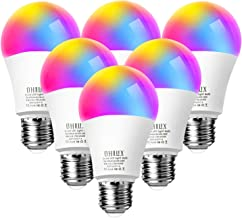 OHLUX Smart WiFi LED Light Bulbs Compatible with Alexa Google Home and IFTTT(No Hub..