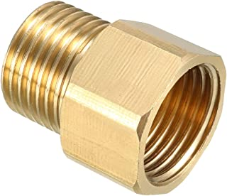 uxcell Brass Pipe Fitting, Adapter, 1/2 PT Male x 1/2 PT Female Connector