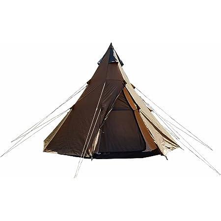 カナディアンイースト(Canadian East) アウトドア キャンプ ワンポールテント 軽量 組み立て簡単 UVカット 4人用/5~6人用
