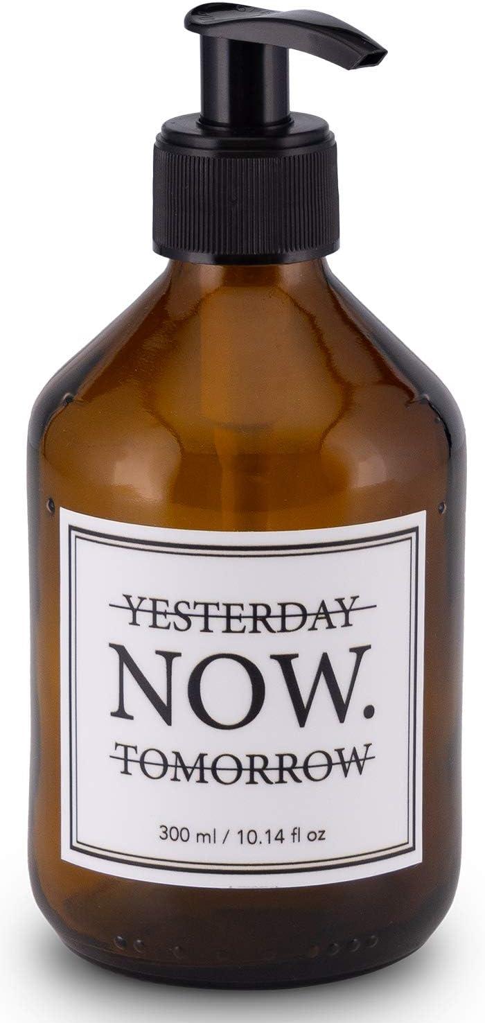 Lifestyle Lover Dispensador de jabón de cristal marrón, 300 ml, color ámbar, para jabón, fregadero, champú, lociones, color marrón
