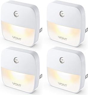 Vont 'Aura' LED Night Light (Plug-in) Super Smart Dusk to Dawn Sensor, Auto Night Lights Suitable for Bedroom, Bathroom, T...