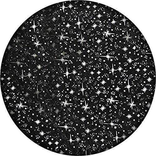 Black Organza Silver Stars 5 Yards -Black Sheer Organza Shooting Star Print Fabric |Shiny Sparkle - DIY Fabric | for Decoration Backdrop Runner Curtain Tablecloth Dresses