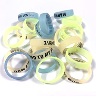 Silicone Protective Bands Ring Cover Bumper Band Silicone Rings (Glow in The Dark 21mm, 20 Pack)