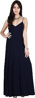 Womens Long Sexy V Neck Sleeveless Flowy Formal Evening Maxi Dress