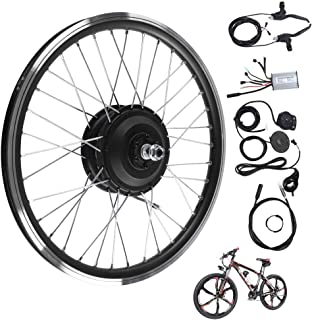 Electric Bicycle Kit, 36V/48V 350W Max Speed 28km/h 20 inch Wheel E-Bike Conversion Kits Front/Rear Wheel Hub Motor Control Kit with LED Display, Strong and Powerful for Road Bike