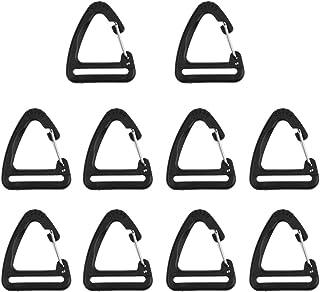 Ben-gi 10pcs t/áctico Grimlock rotaci/ón del Anillo en D Clips Hebilla Hebilla de rotaci/ón Mochila Molle Correas Accesorio Mochila de Bloqueo Mosquet/ón