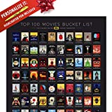 Official IMDb Poster, Unique Gift for Movie Fans, Top 100 Movies, Professional Design, Best Films, Rate the Movies Yourself, Large Gift Poster