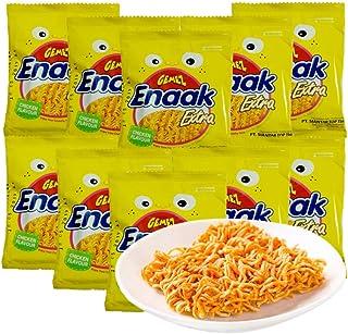 印尼进口GEMEZ Enaak Extra 点心面 网红小食品 小鸡面 干脆面 (小鸡面烤鸡味 30g*15袋)