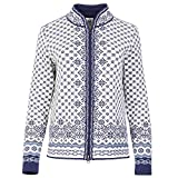Dale of Norway Solfrid Fem Chaqueta, Mujer, Off White/Electric Storm/Navy/Ice Blue,...