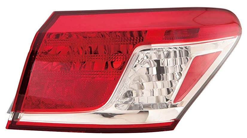 Depo 324-1907R-US Lexus ES 350 Passenger Side Outer Tail Lamp Assembly with Bulb and Socket