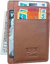 wesport Slim Minimalist Front Pocket RFID Blocking Leather Wallets Card Holder Purse for Men Women (Brown, Cadillac)