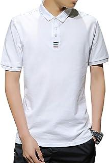 JinsX ポロシャツ メンズ 半袖 polo シャツ 無地 通気性 吸汗速乾 3釦仕様です ゴルフ ゴルフウェア ビジネス シンプル 快適 薄手 立っている襟 綿100% 夏季対応 トップス