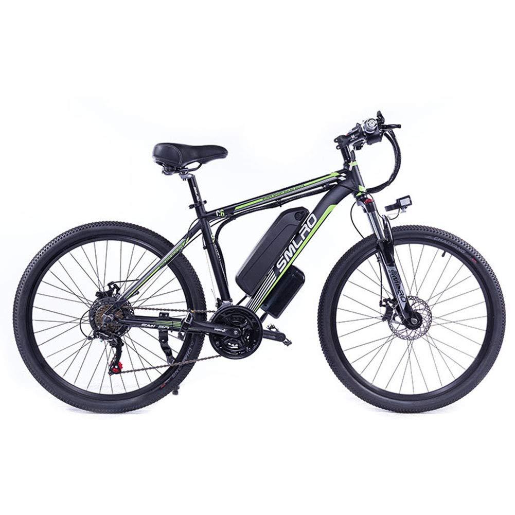 WFIZNB Bicicletas de montaña eléctricas, 26 Bicicleta eléctrica con Bicicletas extraíble 48V13AH Lithi Off-Road con súper al magnesio Ligero,Black Green: Amazon.es: Deportes y aire libre