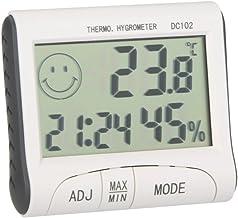 Galapar Termómetro Higrometro Digital para Interior, LCD Digital termómetro higrómetro Temperatura Humedad del probador del Metro del Reloj de Temperatura y Humedad del Casa Ambiente