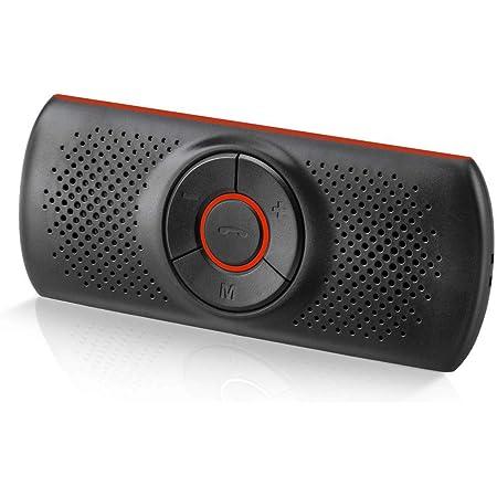 NETVIP 車載用 Bluetoothスピーカー ワイヤレスポータブルスピーカーハンズフリー 通話 音楽再生 高音質 スピーカー GPSナビゲーション 自動電源OFF 2台待ち受け