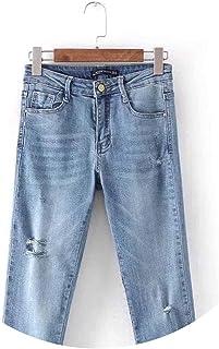 春タイトフィット足首の穴の女性のジーンズの小さな足9ズボン