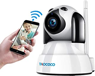 TAOCOCO Dog Pet Camera, 1080P FHD Cat WiFi IP Camera, Wireless Security Camera, Home Baby Monitor Nanny Cam with Smart Pan/Tilt/Zoom, Motion Detection, Two Way Talking, Infrared Night Vision
