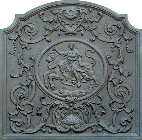 Lunaway Kaminplatte Ofenplatte für Kamin aus Gusseisen, Dame, Maße: 80 x 80 cm Dicke: 2 cm