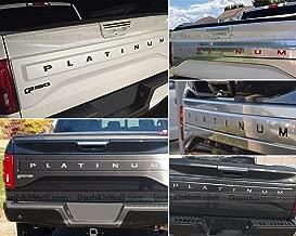 PLATINUM Tailgate Vinyl Insert Decal Fits 2015-2017 Ford F150 Gloss Carbon Fiber