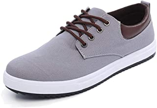 2018 Autumn Korean Student Canvas Shoes Trend Sports Shoes Low to Help Casual Shoes Ryan Board Shoes Men's Shoes (Color : Grey, Size : 43)