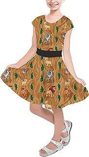 Rainbow Rules Leaves Lion King Disney Inspired Girls Short Sleeve Skater Dress