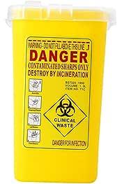 Baosity 2 Pedazos Contenedor de Objetos Punzantes de Un Cuarto de Contenedor de Residuos Biol/ógicos Peligrosos