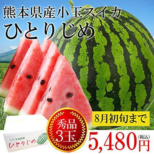【産地直送】 熊本県産 高い糖度 小玉すいか ひとりじめ 3玉