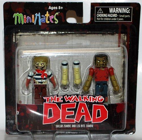 Walking Dead Minimates - Sailor Zombie and Leg Bite Zombie by Diamond Select