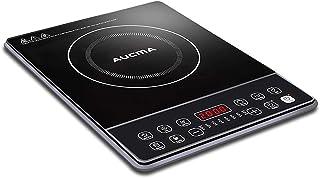 AUCMA Placa inducción, eléctrica Placa de inducción, diseño portátil Ultra Delgado, Sensor de Control táctily Cerradura de Seguridad,Temporizador,2000W