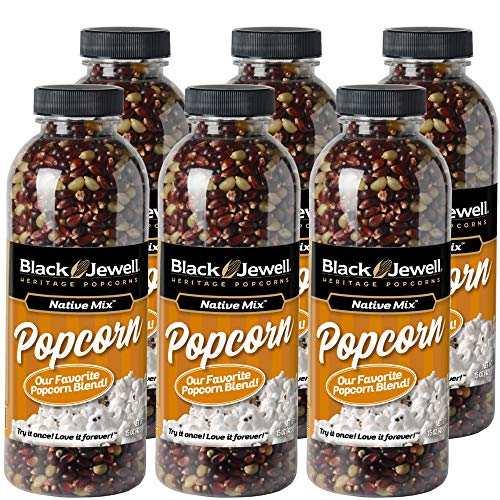 Read About Black Jewell Native Mix Hulless Popcorn Kernels 15 Ounces (Pack of 6)