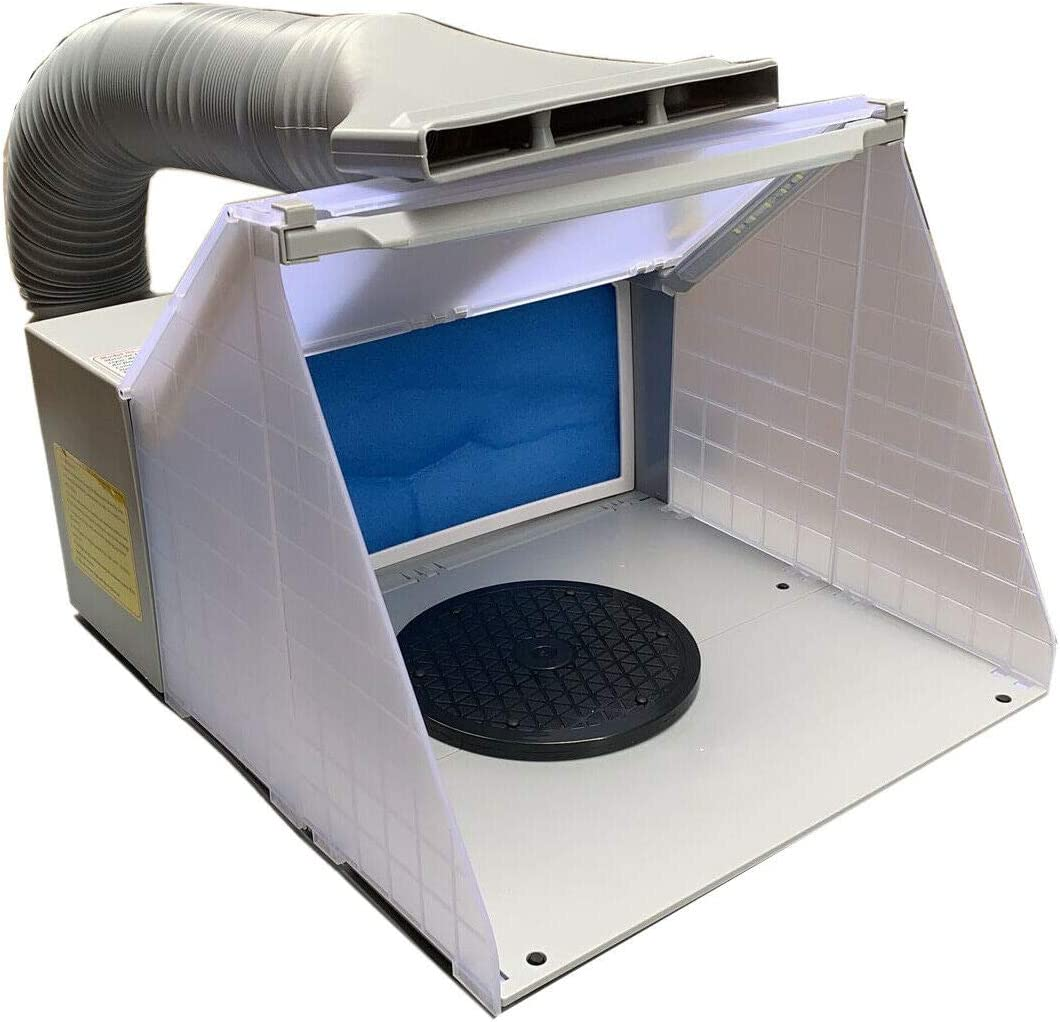 TABODD Portable Airbrush Albuquerque Mall OFFer Paint Spray Booth LED Kit with 3 Lights