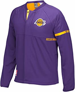 adidas Los Angeles Lakers NBA Purple 2016-17 Authentic On-Court Team Issued Pro Cut Warm Up Jacket for Men