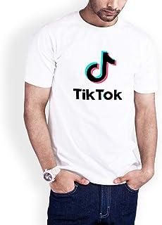 Casual Printed T-Shirt for Men, Tik Tok, White