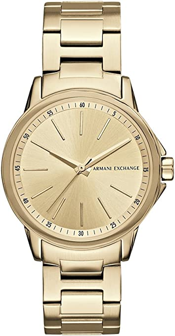 Armani Exchange Women's AX4346 Gold Watch