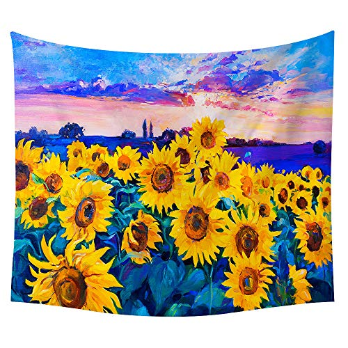 jtxqe Neue Tapisserie Wandbehänge Strandtuch Decke Sonnenblume Neue 29 150 * 130