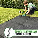 GardenGloss 25 Premium Anti-ROST Erdanker aus Stahl - Stabile Bodenanker für Unkrautvlies, Gartenvlies, Zaun & Camping - 150 MM Lang, 30 MM Breit, Ø 3 MM - 7