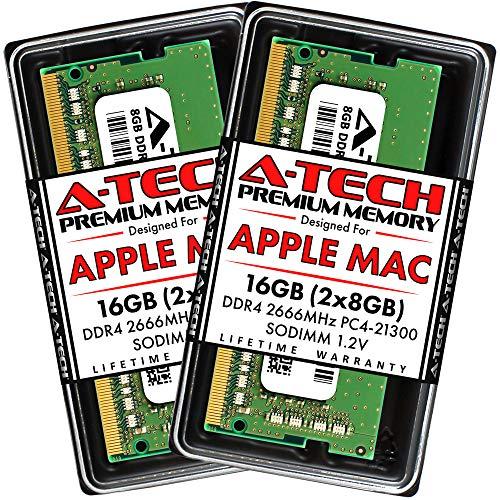 A-Tech 16GB Kit (2x8GB) DDR4 2666MHz RAM for Apple 2019 & 2020 iMac 27 inch (iMac19,1 iMac20,1 iMac20,2), 2018 Mac Mini | PC4-21300 SO-DIMM 260-Pin Memory Upgrade