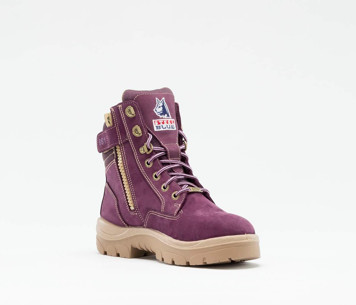 Steel Blue Ladies Southern Cross Zip Boot, Purple