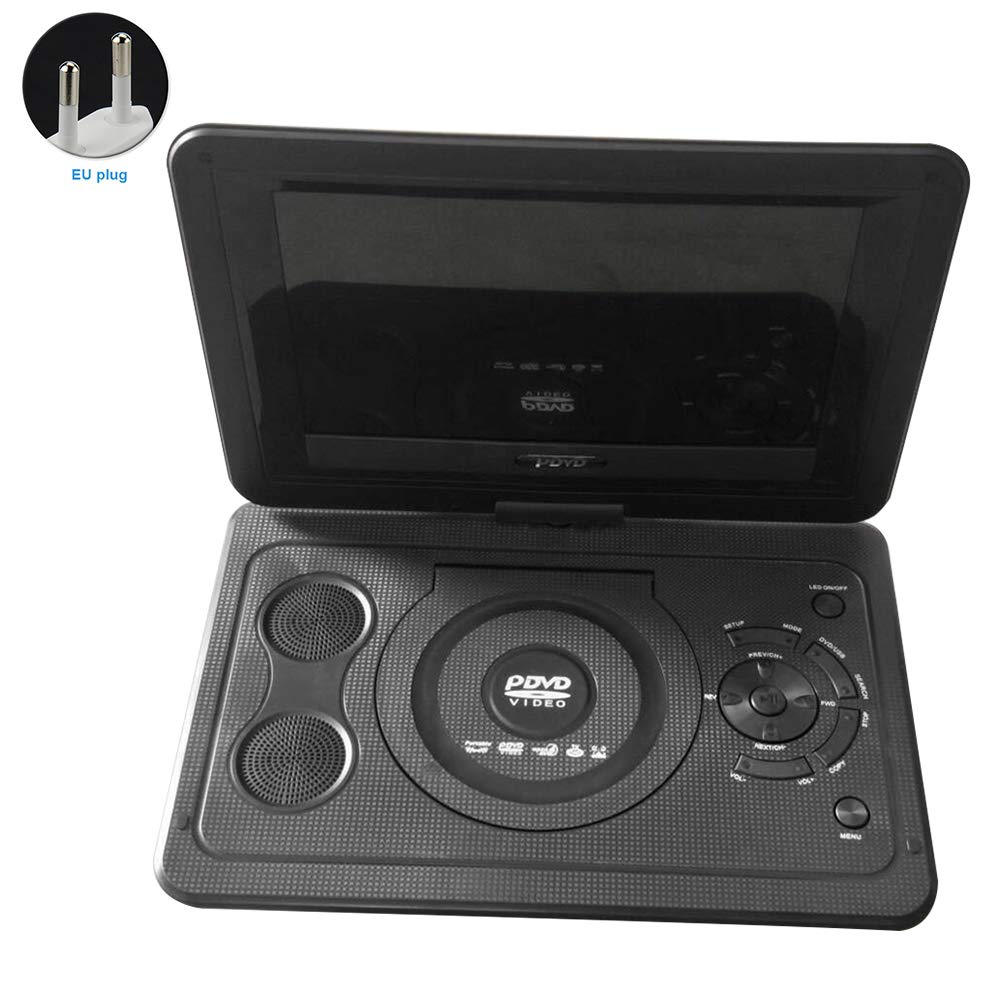 Reproductor de DVD portátil de 13,9 pulgadas, reproductor de TV portátil con altavoz, reproductor de DVD para automóvil, batería recargable,cargador para automóvil, reproducción 3D, radio FM: Amazon.es: Bricolaje y herramientas