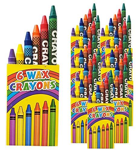 Libetui 10 Sets 6er Wachsmalstifte Crayons Wachsmalkreide für Kinderparty Hochzeit Kindergeburtstag Geschenk Bunte Farben