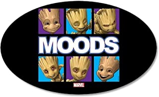 CafePress GOTG Groot Moods 35x21 Oval Wall Decal, Vinyl Wall Peel, Reusable Wall Cling
