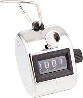 Officemate Handheld Tally Counter, Metal/Chrome (66222)