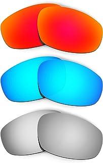 Hkuco Plus Mens Replacement Lenses For Oakley Split Jacket Red/Blue/Titanium Sunglasses