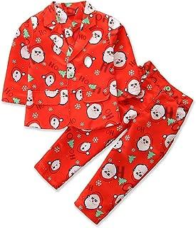 Kids Baby Boys Christmas Gentleman Formal Suits Long Sleeve Santa Snowflake Blazer Jacket Pants and Necktie