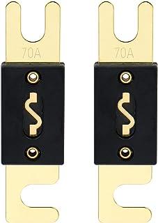 Heschen ANL Sicherung ANL 70 70 Ampere für Auto Fahrzeuge, Audio System, Blattgold, Schwarz, 2 Stück